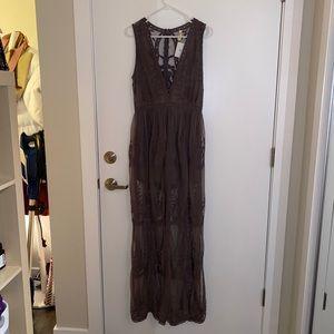 Boutique Romper w/ Lace Skirt - purple - M